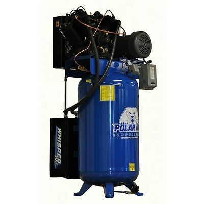 10 HP V4 3 Phase 80 Gallon Vertical Air Compressor by Eaton
