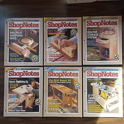 ShopNotes. Complete 2002 Volume 11, #61-66 Wood Crafts Prints Plans Projects