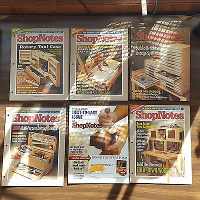 ShopNotes. Complete 2003 Volume 12, #67-72 Wood Crafts Prints Plans Projects