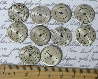 Steampunk Watch Parts Watch Faces Assorted 18mm Round x 10PC
