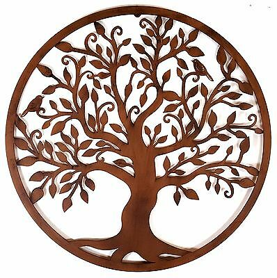 Tree of Life Metal Hanging Wall Art Rust Rustic Hanging Sculpture Garden *80 cm*