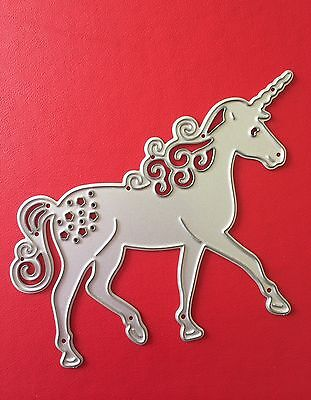 NEW• BEAUTIFUL UNICORN DIE For Use With Cuttlebug Or Sizzix