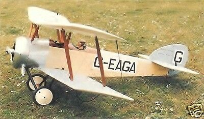 "Model Airplane Plans (RC): SOPWITH DOVE 37""ws1/8 Scale for .15 - .20 Engine"