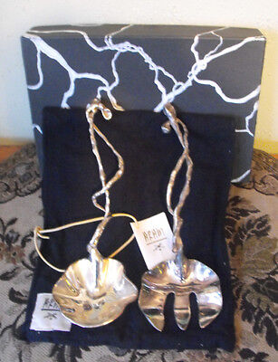 Michael Aram Wisteria Silver Plated Serving Set in Box