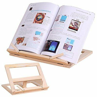 Wood Bookstand Laptop IPad Book Stand Holder Document With 4 Adjustable Position