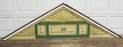 Victorian Architectural Salvage House Gable Pediment Roof Wood Trim Fretwork