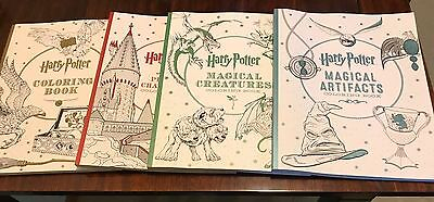 Lot 4 Harry Potter Coloring Book Paperback Brand New Free Shipping