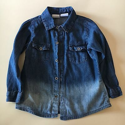 Kardashian Kids Toddler Girl Two-toned Jean Shirt Size 24M