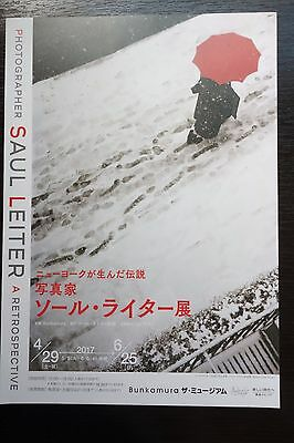 Saul Leiter Retrospective Exhibition Japanese Chirashi Mini Ad-Flyer Poster 2017