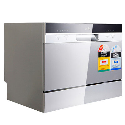5 Star Chef Electric Benchtop Dishwasher Silver Dish Washing Freestanding Unit