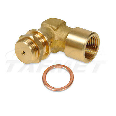 Angle 90° Lambda O2 Oxygen Sensor Extender Spacer with nut M18x1.5 for decat