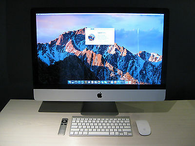 """Apple iMac 27"""" 16Gb/2.66GHz Core i5/1Tb MacOS Sierra 10.12.5 Excellent Condition"""