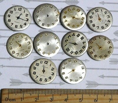 Steampunk Watch Parts Watch Faces Assorted 18mm Round x10PC