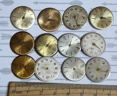Steampunk Watch Parts Watch Faces Assorted 18mm Round x12PC