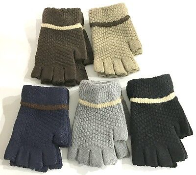 New Fashion Wome's Ladies Knitted Fingerless Gloves Soft Warm Knit Mitten
