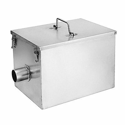 BEAMNOVA Commercial 8LB 5GPM Gallons Per Minute Grease Trap Stainless Steel