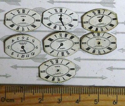 Steampunk Watch Parts Watch Faces Assorted 20x13 Oval  x7PC PK205
