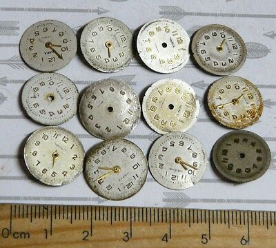 Steampunk Watch Parts Watch Faces Assorted 16mm Round  x12PC PK305