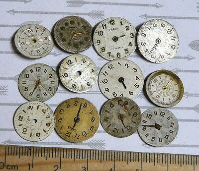 Steampunk Watch Parts Watch Faces Assorted 15-18mm Round  x12PC PK311