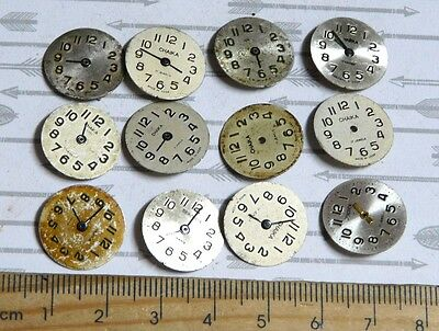 Steampunk Watch Parts Watch Faces Assorted 16mm Round  x12PC PK315