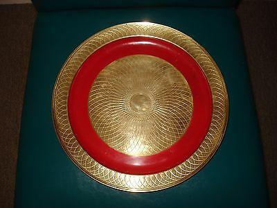 Mid Century Danish Modern Tray / Charger Signed Nils Johan Sweden