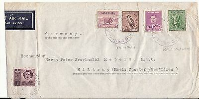 Australia Papua New Guinea cover cath. Mission Vunapope KOKOPO 1948 to Germany
