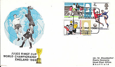 Soccer / Football / World cup 1966 / Germany - Switzerland /printed Staudacher