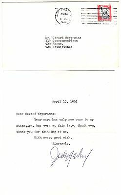 JUDY GARLAND original autograph signed letter to Holland 1963