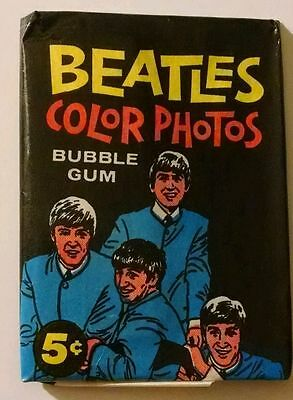 The Beatles / 1964 Color Cards / Unopened Wax Pack / Rare & Amazing!