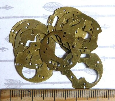 Steampunk Watch Parts Base Assorted Gold 20mm size  x12PC