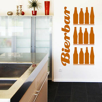 10014 Wall Tattoo Beer bar Lettering Bottles Beer Drinks Party Sticker