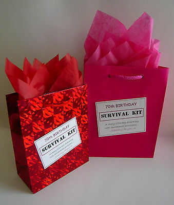 FEMALE 70th Birthday Luxury SURVIVAL KIT Novelty Gift Greeting Card Alternative