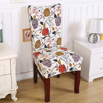 New Fit Removable Chair Cover Dining Room Seat Protect Slipcover Stretch