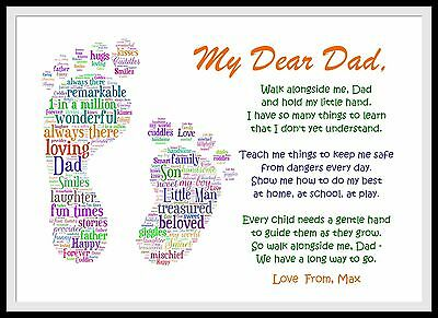 PERSONALISED Dad Birthday Poem Gift