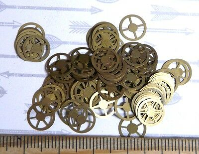 Steampunk Watch Parts Gold Flat Cogs 8mm x 80PC
