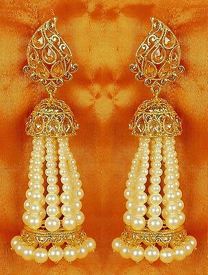Indian Earrings Bollywood Jewelry Gold Plated Jhumka Jhumki Ethnic