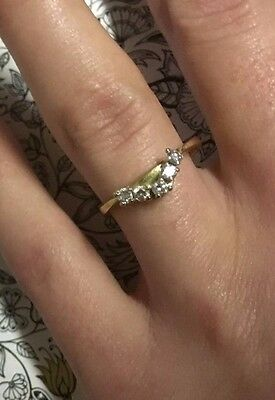 18ct Yellow Gold DIAMOND curved eternity ring RRP$2,470 Certified
