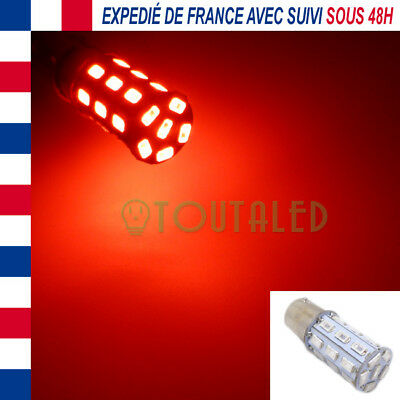 Ampoule Lampe 12V Ba15S P21W 27 Led 5630 Rouge Feux Arrieres Tuning France