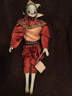 Mardi Gras Jester Doll, 11 Inch, With Tag