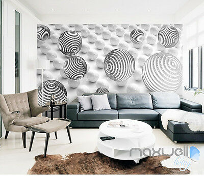 3D Line Sphere Ball 5D Wall Paper Mural Modern Art Print Decals Room Decor