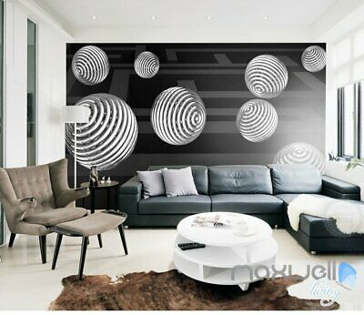 3D Hollow Ball 5D Wall Paper Mural Art Print Decals Business Office Decor