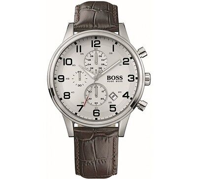 New Men's Hugo Boss Chronograph Leather Watch - Hb1512447