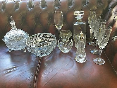 Collection Of Crystal & Fine Glassware & Cut Glass winne the pooh disney added