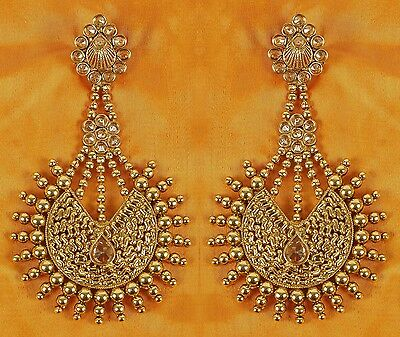 Ethnic Indian Bollywood Earrings Vintage Jhumka Jhumki Women Jewelry