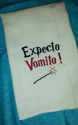 Harry Potter Baby Burp Cloth Embroidered Wizard Baby ShoweR  NuRSeRy GiFT!