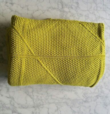 Home Republic (Adairs) 100% Cotton knit Throw, Chartreuse colour.