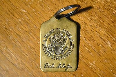 """VTG US congress political """"House Of Representatives"""" solid brass keychain 3.5"""""""