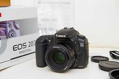 Canon 20D Digital Pro DSLR Camera (New in Box) + 50mm Lens (New in Box) + More