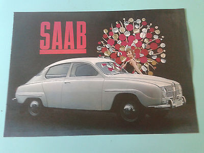 1965 Original Saab Catalog Sales Brochure: Excellent