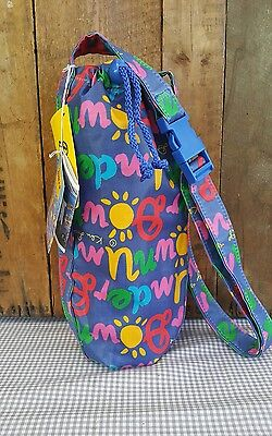 Ken Done bag - vintage - wine bottle carry - new with tags - long strap